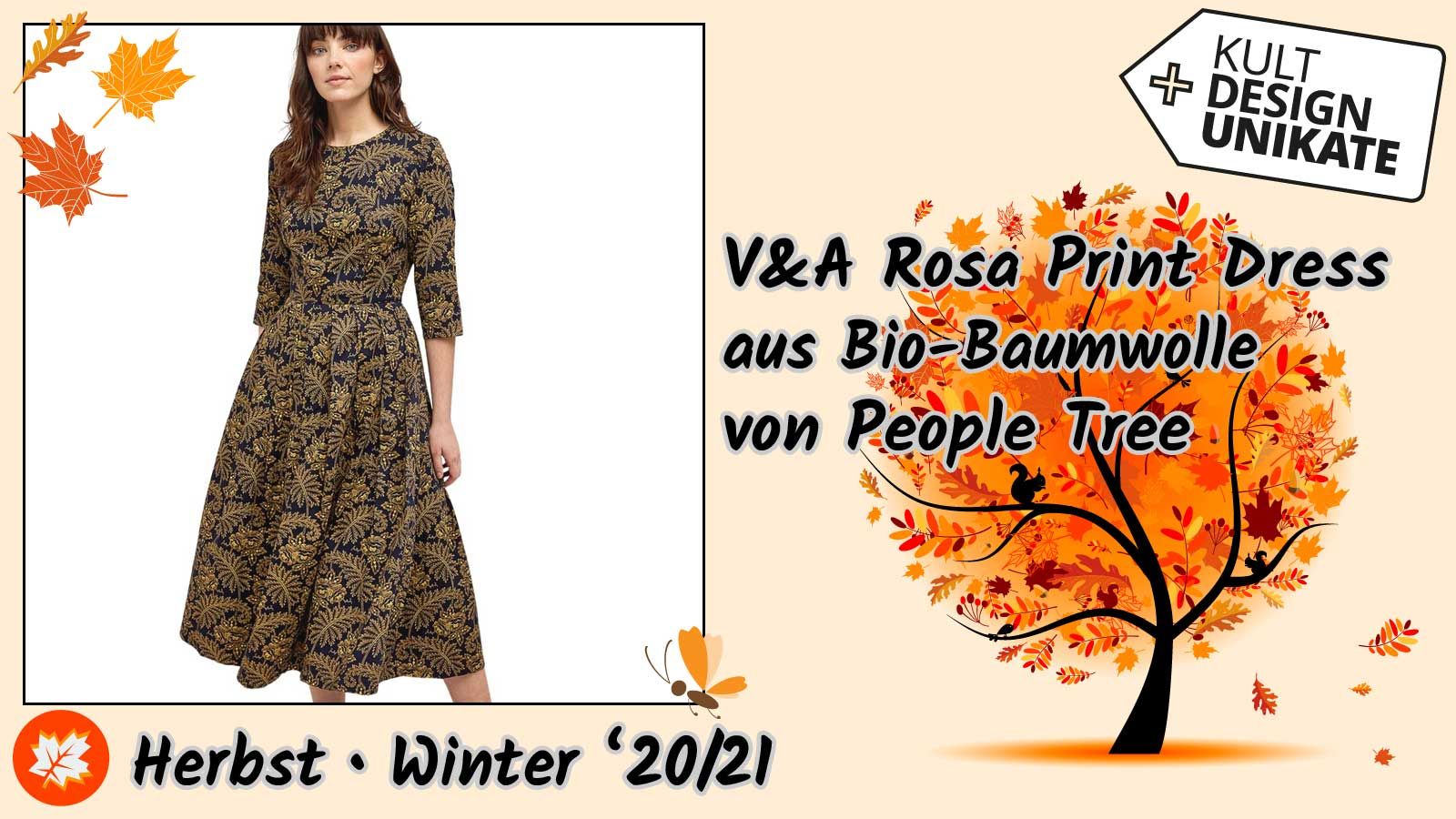 People-Tree Rosa Print Dress