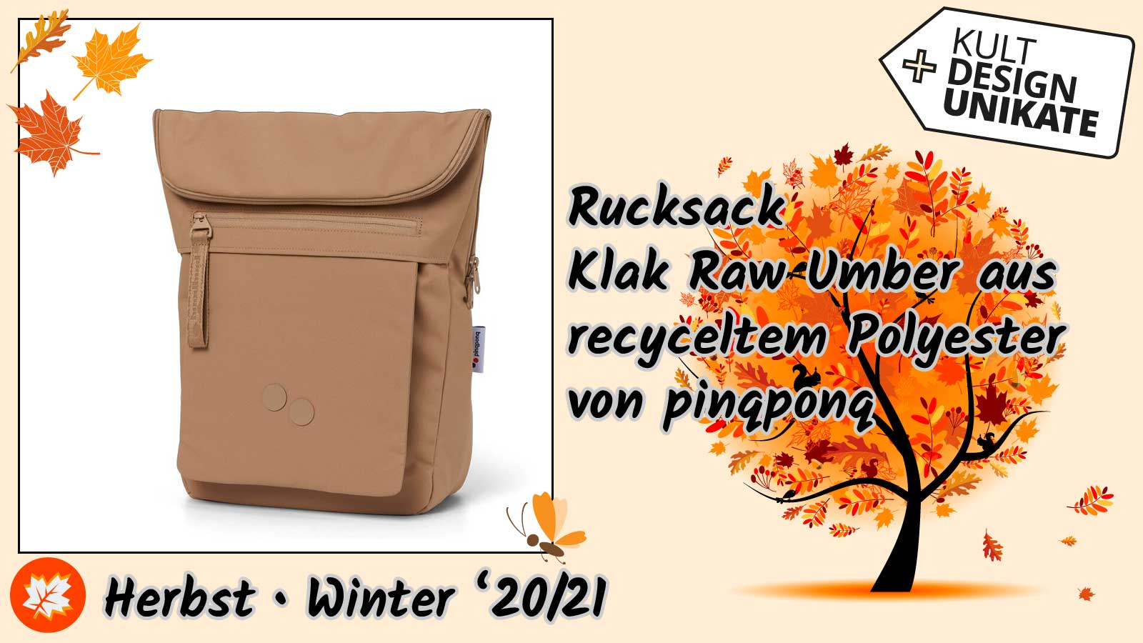 pinqponq-Rucksack-Klak-Raw-Umber