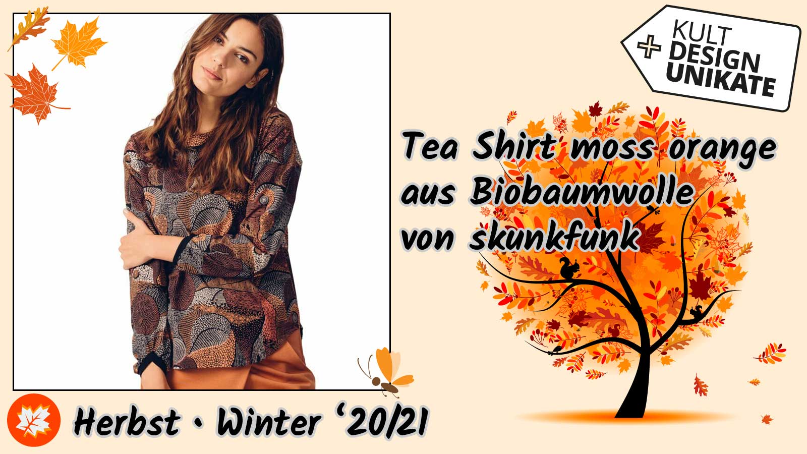 skunkfunk-Tea-Shirt-moss-orange