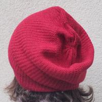 Alpaka-Mütze kirschrot