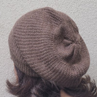 Alpaka-Mütze braun meliert