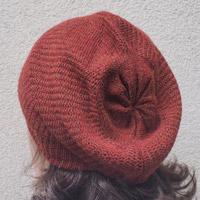 Alpaka-Mütze rotbraun-meliert