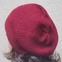 Alpaka-Mütze bordeaux