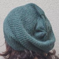 Alpaka-Mütze graugrün-meliert