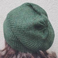 Alpaka-Mütze moosgrün-meliert