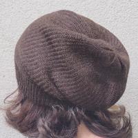 Alpaka-Mütze mokka meliert