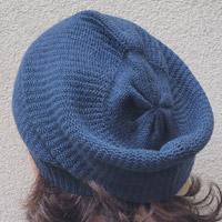 Alpaka-Mütze sturmblau