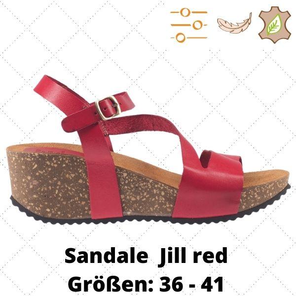 Sandale Jill red