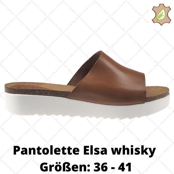 Pantolette Elsa whisky