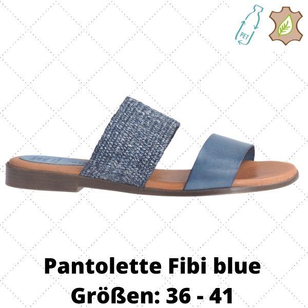 Pantolette Fibi blue