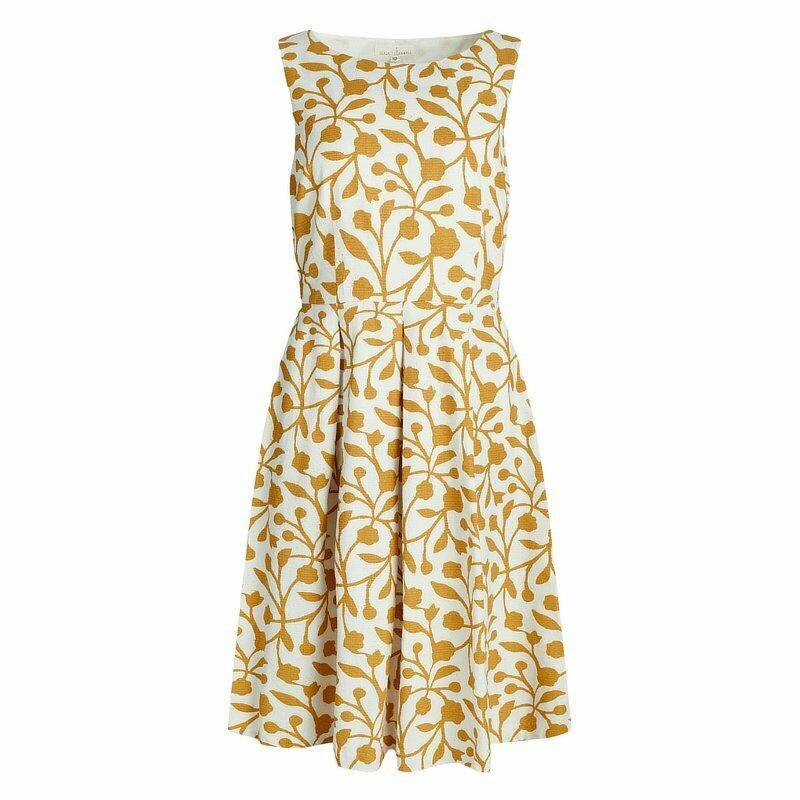 Merthen Dress Floral Sandstone