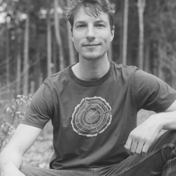 Life Tree T-Shirt mit Baumringmotiv