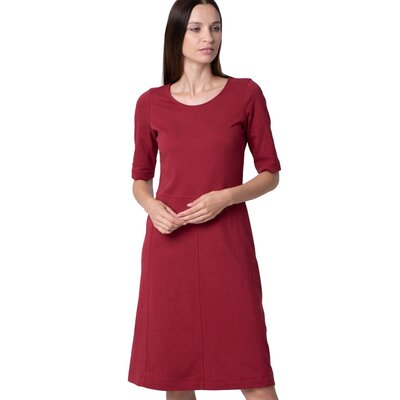 Crepe Business Dress deep red