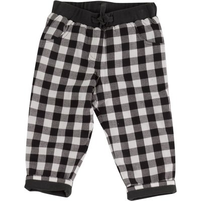 Gingham Trousers black