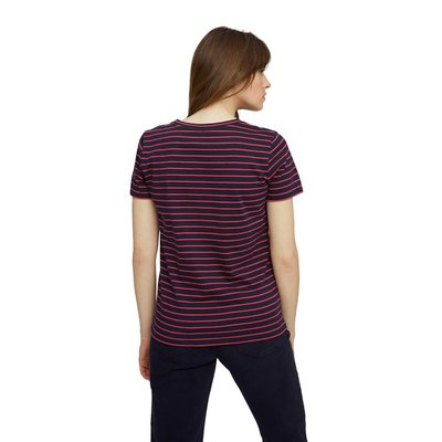 Happy Embroidered Stripe Tee