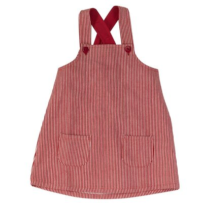 Apron Dress red