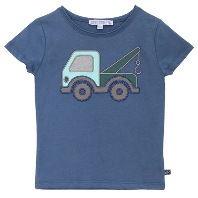 T-Shirt mit Lastwagen Applikation